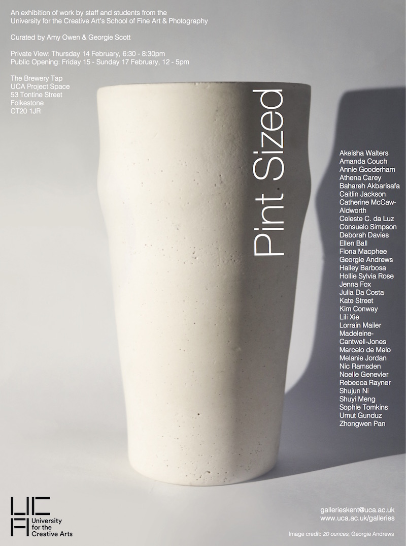 Pint Sized Poster - Image: 20 ounces, Georgie Andrews