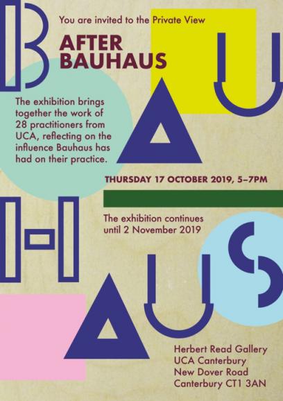 After Bauhaus Exhibition Poster